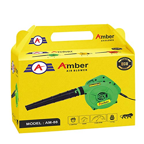 Amber ECO 550W/11000RPM High Pressure Plastic Air Blower/Dust PC Cleaner, AM-88