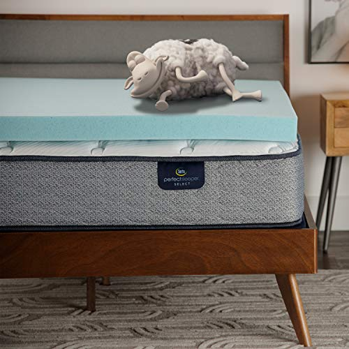 Serta ThermaGel 3-in Memory Foam Mattress Topper, Queen