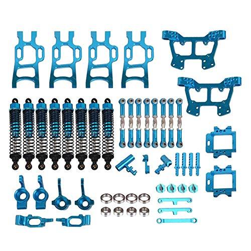 POHOVE 1/10 Coche RC Aluminio Dirección Nudillo Hub Montaje Kit de Mejora...
