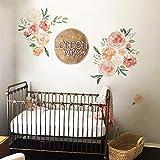 ufengke Pegatinas de Pared Peonía Vinilos Adhesivos Pared Flores Decorativos para Habitación Niñas Dormitorio Sala de Estar