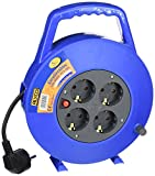 Alyco 199409 - Enrollacables, 5 metros, cable H05VV-F 3G1.0, 250 V