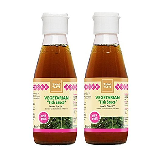 Thai Taste Vegetarian Fish Sauce (Nam Pla Jey) 180ml (Pack of 2)