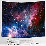 Alumuk Sternenhimmel Tapisserie, 3D Kosmische Galaxie Wandteppich Psychedelic Wandbehang Boho Mandala Hippie Wandtuch Tagesdecke Bettdecke für Schlafzimmer Wohnzimmer Wohnheim (180 x 230 cm)