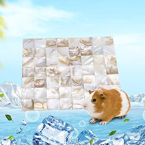GZGZADMC Kühlmatte Hamster Kleintier-Kühlmatte Pet Eisbett Kleintierkühlmatte Faltbare Natürliche Tierkühlmatte Sommer Stabil auf Atmungsaktivem Mesh für Meerschweinchen Hamster Kaninchen