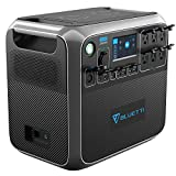 Portable Power Station BLUETTI AC200P 2000Wh LiFePO4 Battery Emergency Power for Off Grid Quiet Solar Generator with MPPT Recharge Tech, 6 Pure Sine Wave 110V AC 2000 Watts Max Outlets