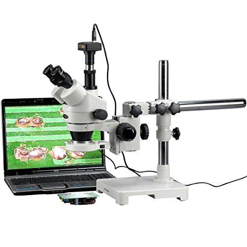 7x -90x Trinocular 80-led Zoom microscopio su asta + USB 3MP fotocamera