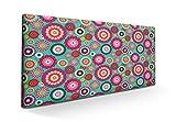 SUENOSZZZ-ESPECIALISTAS DEL DESCANSO Cabecero para Cama tapizado Estampado y Acolchado. Cabeceros de Camas 90 cm. Mandala Verde