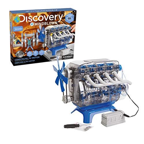 Discovery- Construye, Juegos, Maquetas para Niños, Construccion, Motor de Juguete, Color Blanco, Talla Única (6000179)