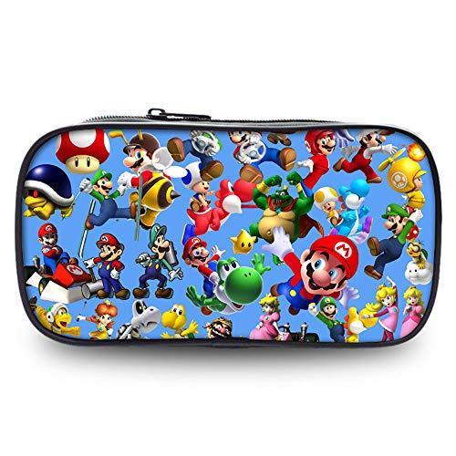 Fuovt Super Mario Zipper Pencil Case for Toy and Pen Storage Bag (C)