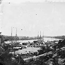 Broadway Landing, Appomattox River, Virginia. View of docks and supply boats g1