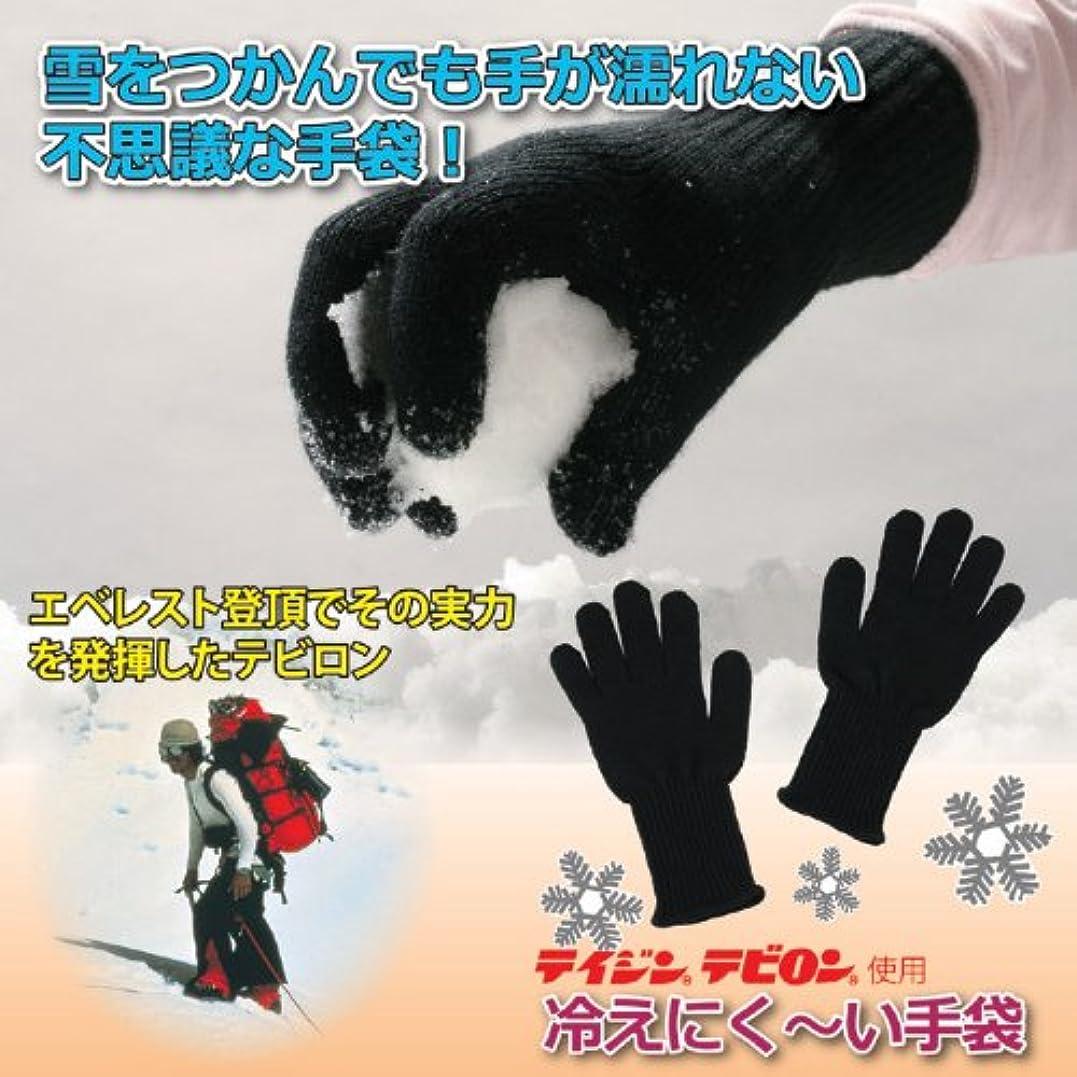 暗記するあらゆる種類の積極的にテイジンテビロン 冷えにく~い手袋 (Mサイズ)