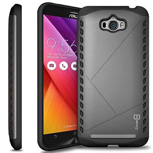 Asus Zenfone Max Case, CoverON [Paladin Series] Slim Fit Hard Protective Modern Style Phone Case for Asus Zenfone Max - Gunmetal Grey
