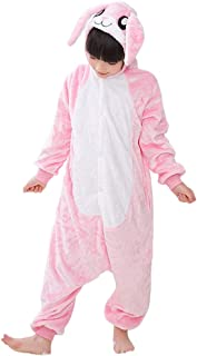 Kids Rabbit Onesie Pajamas Bunny Costume Cosplay for Boys Girls Child