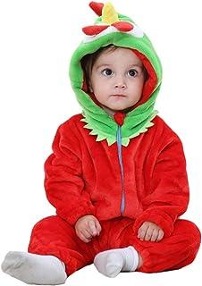 Trayosin Baby Flanell Winter Strampler Bekleidung Jumpsuit Spielanzug Kapuze für Mädchen und Junge