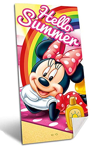 for-collectors-only Minnie Mouse - Toalla de playa para niños, diseño de Hello Summer