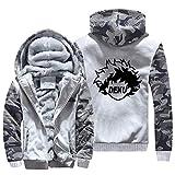 NIEWEI-YI Men's Casual Hooded Sweatshirts,My Hero Academia Chaqueta con Capucha y Cremallera para Hombre, Forro Polar,S