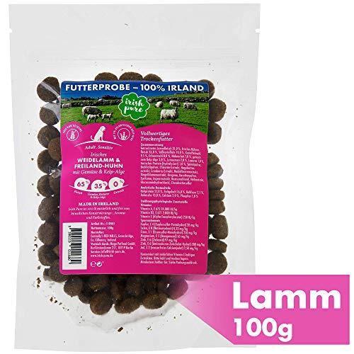 Futterprobe: Irisches Weidelamm & Freiland-Huhn mit Gemüse & Kelp-Alge, Adult