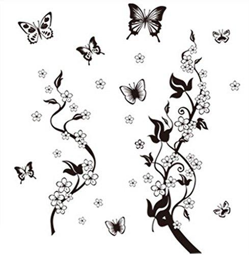 Pegatinas de pared Hacoly, diseño de mariposa, decoración de pared