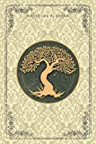Notebook Planner Golden Hand Drawn Tree Life Luxury Medium Champagne Background Cover: 6x9 inch, 120 Pages, Financial, Happy, Meal, Organizer, Notebook Journal