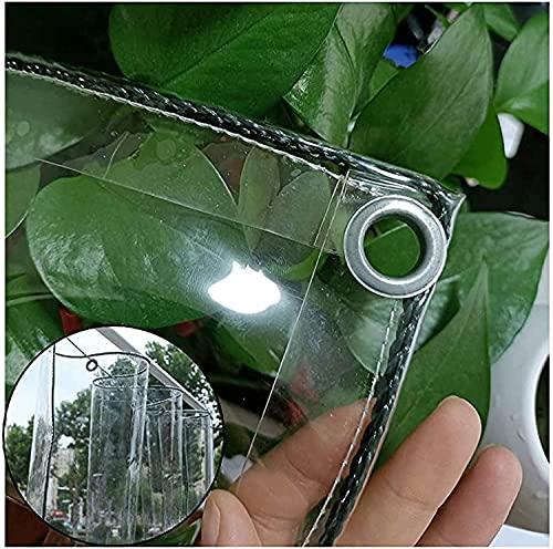 N\A ZHANGQINGXIU Lonas Impermeables Exterior,Lona Tela De Plástico De PVC Resistente Al Agua Transparente, Resistente, para Exteriores, Cortina De Lluvia Perforada De 0,3 Mm, 47 Tamaños