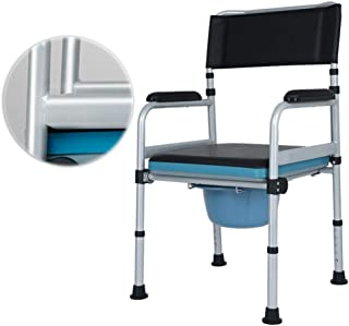 Deodorant Commodes Toilet/Adjustable Height Foldable Disabled Bath Toilet Chair for Bathroom Bedside Travel Camping/Mobile Nursing Chair