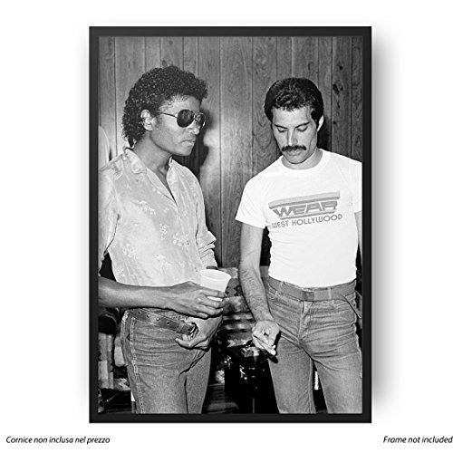 LaMAGLIERIA Poster Freddie Mercury & Michael Jackson - Posterdruck glänzend laminiert - Format, 50cmx70cm