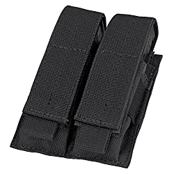 in budget affordable Condor Double Pistol Magazine Pouch (Black)