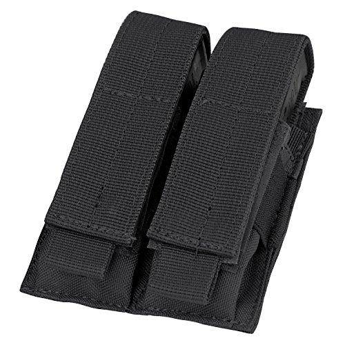 Condor Double Pistol Mag Pouch (Black), 4 H x 5 W x 1 D
