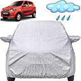 Autofact Waterproof Car Body Cover Compatible with Maruti Alto 800 (2012 to 2021) with Mirror Pockets (Shinning Silver)