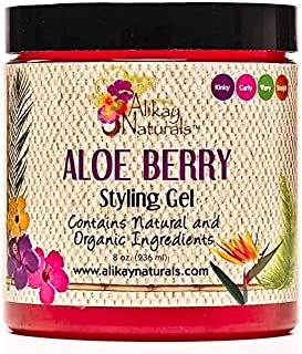 (470ml) - Alikay Naturals Aloe Berry Style Gel Gel for Men & Woman with Organic Aloe Vera & infused Aloe Berries 470ml