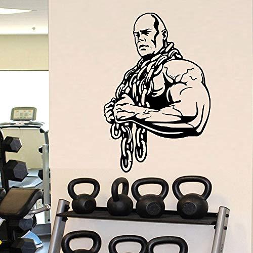 Gimnasio Fitness Deportes Fuerte Poder Musculoso Hombre Hércules Ejercicio Etiqueta de la pared Calcomanía de vinilo Dormitorio Sala de estar Sala de entrenamiento físico Club de culturismo Decor