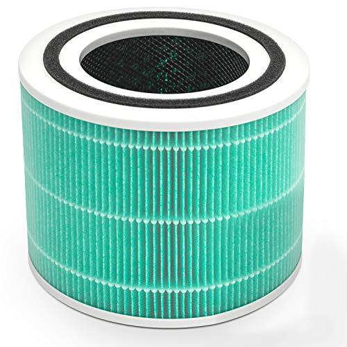 Levoit Filtre de Remplacement Core 300-RF-TX, Filtre 3 en 1,Préfiltre,H13 HEPA Véritable, Filtre à Charbon Actif, Compatible Core 300