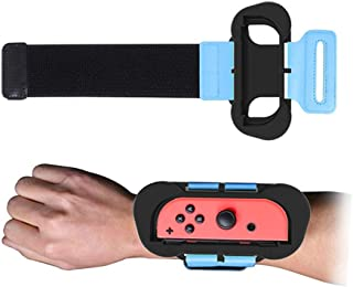 2019 Just-Dance Left Right Wristband for N-Switch JoyCon Gamepad,Guesthome 2PCS Elastic Adjustable Wrist Strap for All Wrist Sizes,for Children and Adults