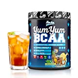 BCAA Pulver YUM YUM BCAA | Amino 2:1:1 als Aminosäuren Komplex Hochdosiert – 450 g BCAAs (Ice Tea Lemon)