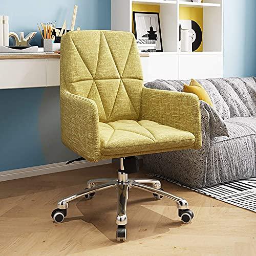 Sonder/Schlicht L-Elegant Drehstuhl Sessel für Home Work Conference, Living Desk Chair Weiche Polsterung Konferenzstuhl, Executive Gepolsterter Computerstuhl, moderner Bürostuhl-grau 45x47x87cm