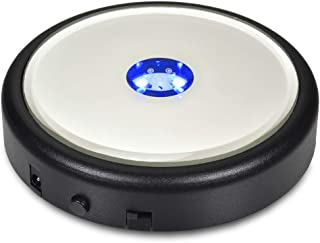 Santa Cruz Lights Round Programmable Mirror Top Base Stand AC/USB or Battery Powered