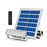 100W Solar Flood Light Outdoor with CREE Chips ,DusktoDawnLED Flood Light Solar Powered IP65 Waterproof Solar Street Light with Remote Control for Yard,Farm,Pool,Garage,Pathway