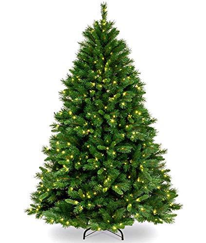 Collen Árbol de Navidad Artificial 150 cm, Árbol de Navidad con Cadena de Luz(150LED), Àrbol de Navidad Artificial 500 Ramas, Àrbol de Navidad, Material PVC, Montaje Fácil, Soporte de Metal