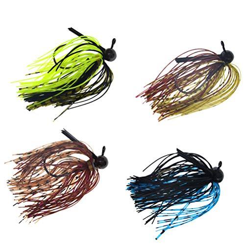 ABOOFAN 4 peças de simulação de isca de pesca em forma de barba falsa isca isca de pesca artificial