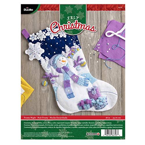 Bucilla Felt Applique Stocking Kit (18-Inch), Frosty Night