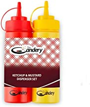 The Candery Hot Dog Accessories Set- Ketchup and Mustard Squeeze Bottles - for Carnivals, BBQs, Picnics, Concession Stands (Squeeze Bottles)