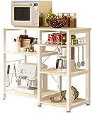 soges Estante de cocina Estante de horno microondas, Multi-función Utensilios de cocina Estantes de...