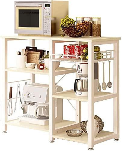 soges Estante de cocina Estante de horno microondas, Multi-función Utensilios de cocina Estantes de almacenamiento,W5S-MP-SF