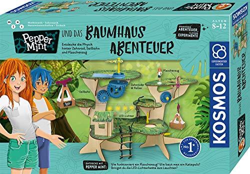 Kosmos 602369 Pepper Mint und das Baumhaus-Abenteuer, Erforsche spielerisch Grundlagen der Physik, mit Flaschenzug, Seilbahn, Katapult, Amazon Exclusive, Experimentierkasten für Kinder ab 8-12 Jahre