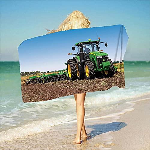 Proxiceen Traktor MusterBeach Towels, Home Outdoor SportsTravelTowel, microfibra, suave, de secado rápido, para mujeres, niños, hombres, niñas, regalos (A7,70 × 140 cm)