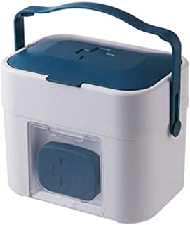 LULUD Medicine Box Storage Box First Aid Box Compartment Medical Storage Box Drug Organizer Suitable for Car Workplace Hom...