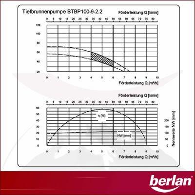 Berlan BTBP100-9-2.2 Tiefbrunnenpumpe - 6