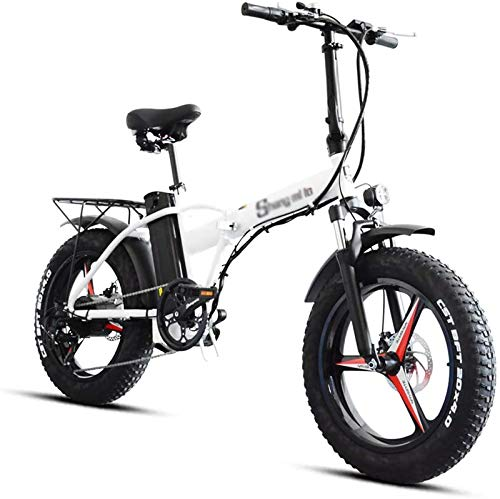 Best Prices! Rindasr 20 inch Folding Electric Bike,48V/500W/15AH Lithium Battery,4.0 Oversized T...