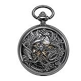 TREEWETO Reloj de bolsillo mecánico antiguo para hombre, di