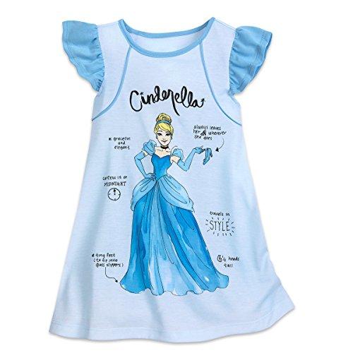 Disney Cinderella Nightshirt for Girls Size 5/6 Blue